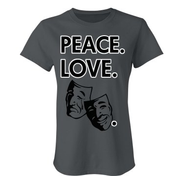 Peace Love Theater Junior Fit Bella Crewneck Jersey Tee