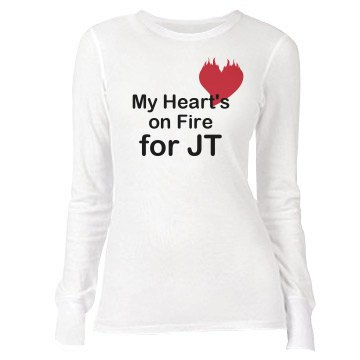 My Hearts On Fire Junior Fit Bella Long Sleeve Thermal Tee
