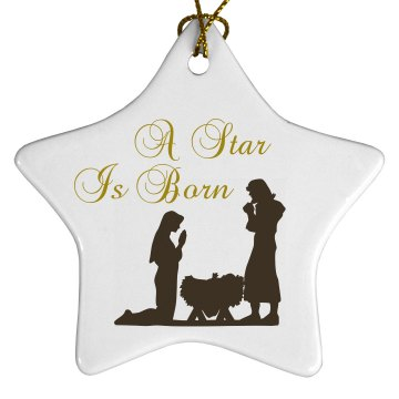 A Star Is Born Porcelain Star Ornament