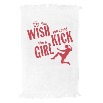 Soccer Spirit Towel Fringed Spirit Towel