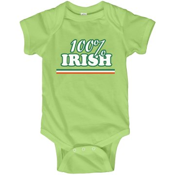 100% Irish Onesie Infant Rabbit Skins Lap Shoulder Creeper