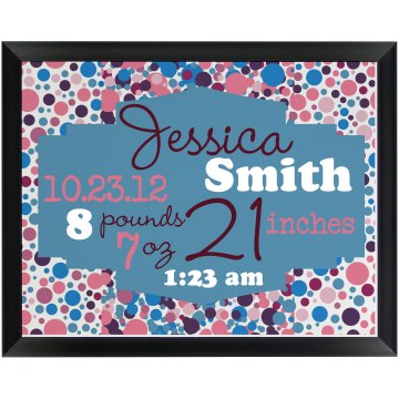 Birth Announcement Plaque Wood Plaque
