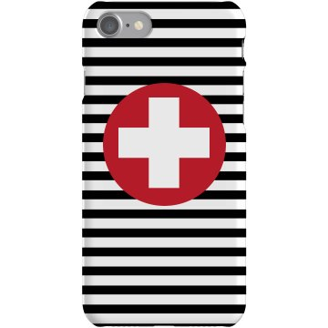 Stripe Cross iPhone Case Plastic iPhone 5 Case White