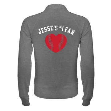 Jesse's Softball Fan Junior Fit Bella Cadet Zip Track Jacket