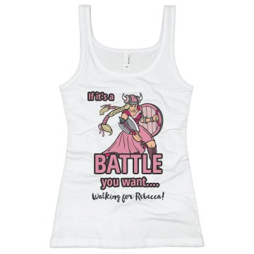 Battle Breast Cancer Junior Fit Basic Bella Favorite Tee
