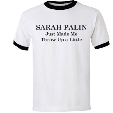 Spew On Sarah Palin Unisex Anvil Ringer Tee