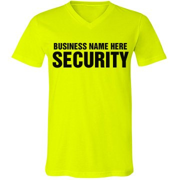 Security Text Tee Junior Fit Bella 1x1 Rib Ringer Tee