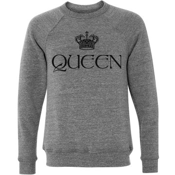 Queen Crew Unisex Canvas Triblend Crew