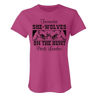 She Wolves Bachelorette Junior Fit American Apparel Fine Jersey Tee