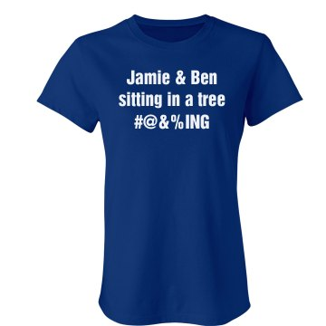 Sitting In A Tree Junior Fit Bella Crewneck Jersey Tee