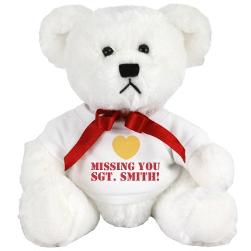 Missing You Military Bear Medium Plush Teddy Bear