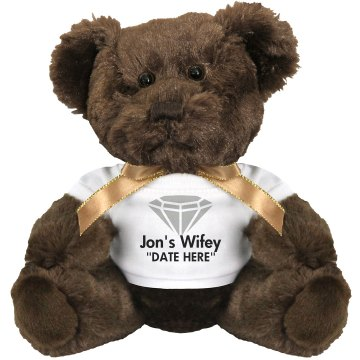 Jon&#x27;s Wifey Teddy Bear Medium Plush Teddy Bear