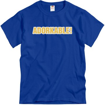 Adorkable Text Tee Unisex Gildan Heavy Cotton Crew Neck Tee