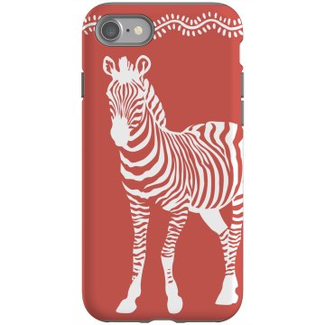 Zebra Walking Rubber iPhone 4 & 4S Case Black
