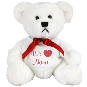 Love Nana Bear Plush Baby Shower Teddy Bear