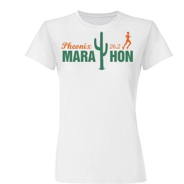 Cactus Marathon  Junior Fit Basic Tultex Fine Jersey Tee