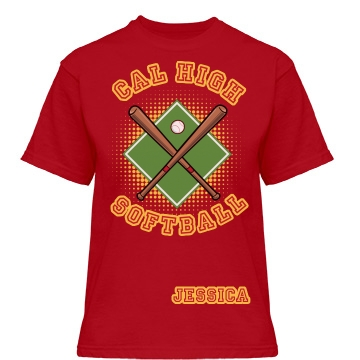 Cal High Softball Misses Relaxed Fit Gildan Heavy Cotton Tee