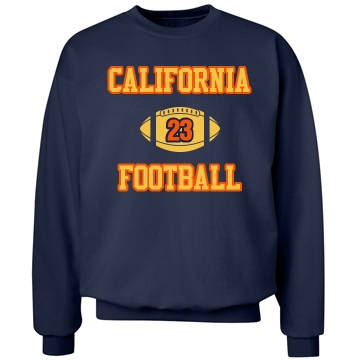 Cali Football Fan Unisex Hanes Crewneck Sweatshirt