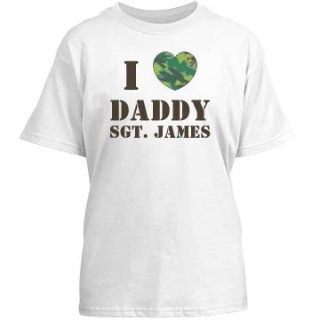 Camo Heart Love Daddy