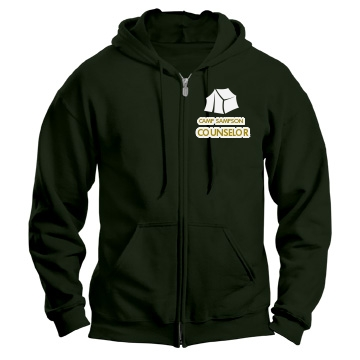 Camp Counselor Zip Up Unisex Gildan Heavy Blend Full Zip Hoodie