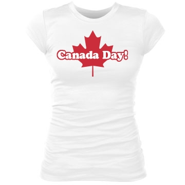 Canada Day Junior Fit Bella Sheer Longer Length Rib Tee
