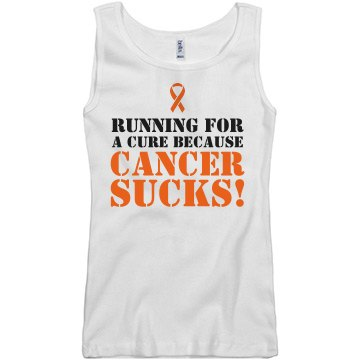 Cancer Sucks Tank Junior Fit Basic Bella 2x1 Rib Tank Top