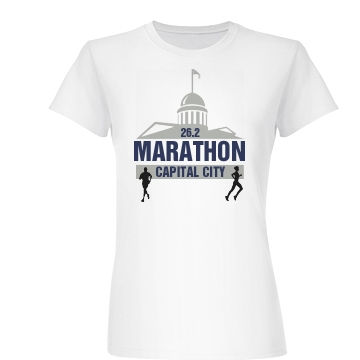 Cap City Marathon Junior Fit Basic Bella Favorite Tee