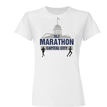Cap City Marathon Junior Fit Basic Tultex Fine Jersey Tee