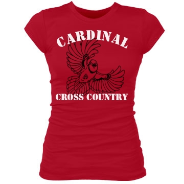 Cardinal Cross Country Junior Fit Bella Sheer Longer Length Rib Tee