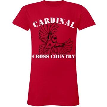 Cardinal Cross Country Junior Fit LA T Fine Jersey Tee