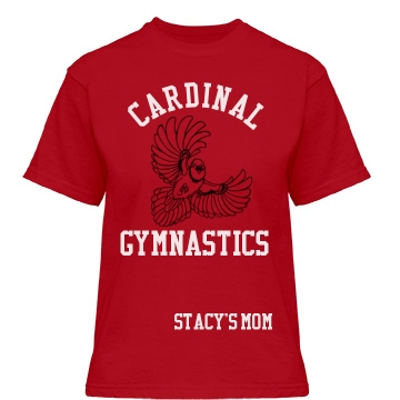 Cardinal Gymnastics Misses Relaxed Fit Gildan Heavy Cotton Tee