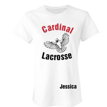 Cardinal Lacrosse Tee Junior Fit Bella Favorite Tee