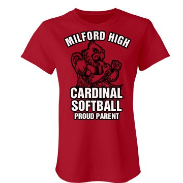 Cardinal Softball Parent Junior Fit Bella Favorite Tee