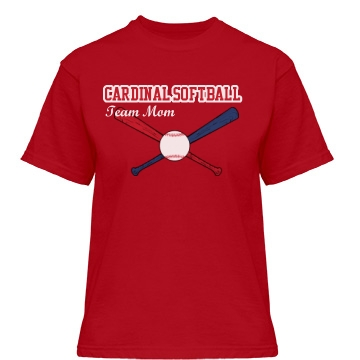 Cardinal Softball Team Misses Relaxed Fit Gildan Heavy Cotton Tee