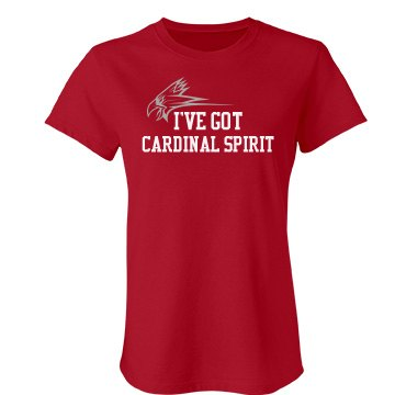 Cardinal Spirit Tee Junior Fit Bella Favorite Tee