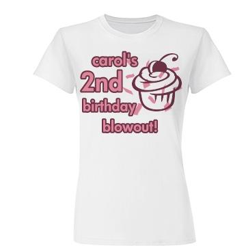 Carol's 2nd Birthday Junior Fit