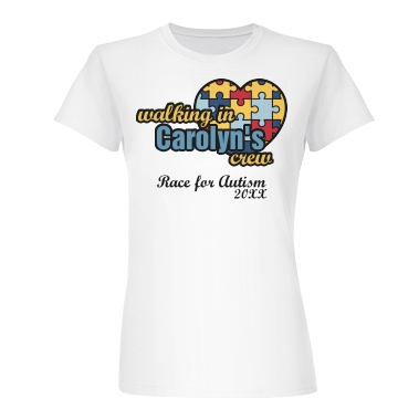 Carolyn's Crew Autism Junior Fit Basic Bella Favorite Tee