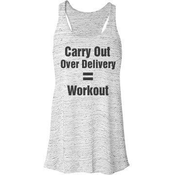 Carry Out Over Delivery Bella Flowy Lightweight Racerback Tank Top