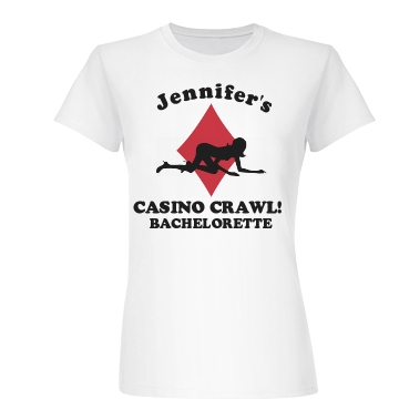 Casino Crawl Bachelorette Junior Fit Basic Bella Favorite Tee