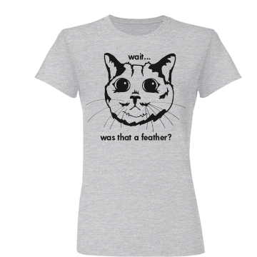 Cat in Suspense Tee Junior Fit Basic Bella Favorite Tee