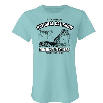 Cat Show Promotion Junior Fit Bella Favorite Tee