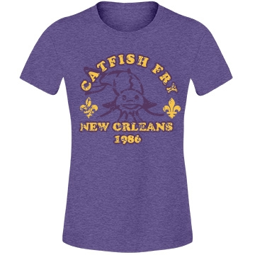 Catfish Fry Vintage Misses Relaxed Fit Anvil Lightweight Fashion Tee