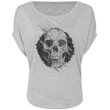 Skull Fashion Top Misses Bella Flowy Draped Sleeve Dolman