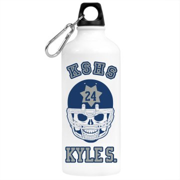 Football Skull Bottle Aluminum Water Bottle