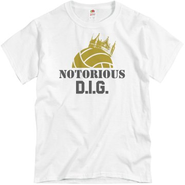 Notorious D.I.G. Unisex Basic Gildan Heavy Cotton Crew Neck Tee