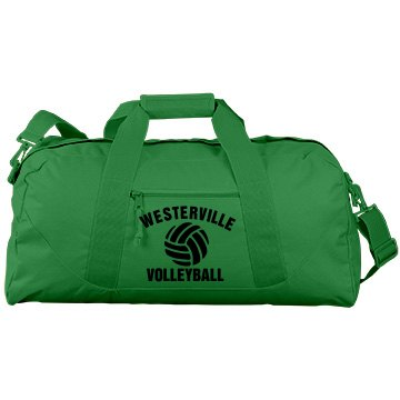Volleyball Gear Bag Port & Company Large Square Duffel Bag
