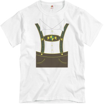 Lederhosen Oktoberfest Unisex Canvas Jersey Tee