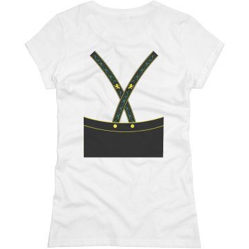 Lederhosen Time! w/ Back Junior Fit Basic Bella Favorite Tee