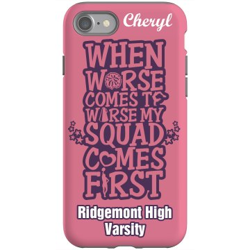 Cheer Squad iPhone 4 Rubber iPhone 4 & 4S Case Black