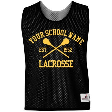 School Lacrosse Pinnie Badger Sport Lacrosse Reversible Practice Pinnie